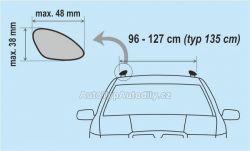 www.autotypautodily.cz Příčný nosník zamykací hliníkový 135cm ALU-PRO COMPASS