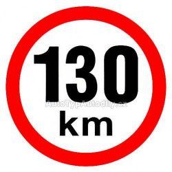 Samolepka rychlost 130km