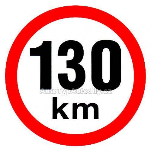 www.autotypautodily.cz Samolepka rychlost 130km