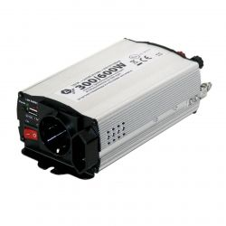 Měnč napětí 12/220V 300W/600W + 1 x USB 1500mA