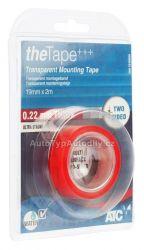 Oboustranná průhledná montážní páska 19mm x 0,22mm x 2m
