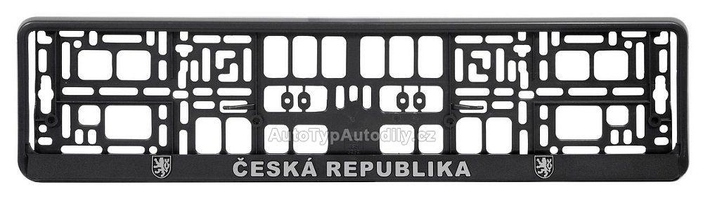 www.autotypautodily.cz Podložka pod SPZ CHROM ČR 3D CZ