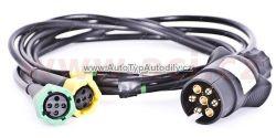 Kabeláž pro přívěsné vozíky - 7pin zástrčka, 2x 5pinový konektor pro zadní světla