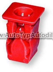 Nástrčná spona červená 4,8 mm otvor 10 x 10 mm Fiat/Alfa Romeo/Lancia