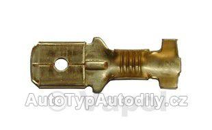 www.autotypautodily.cz Konektor 6,3x0,5-1 kontakt plochý samec CZ