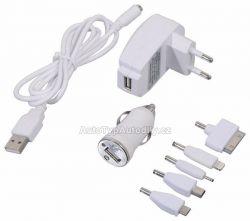 Nabíječka telefonu 220/12V (Iphone4/5, micro USB, mini USB...