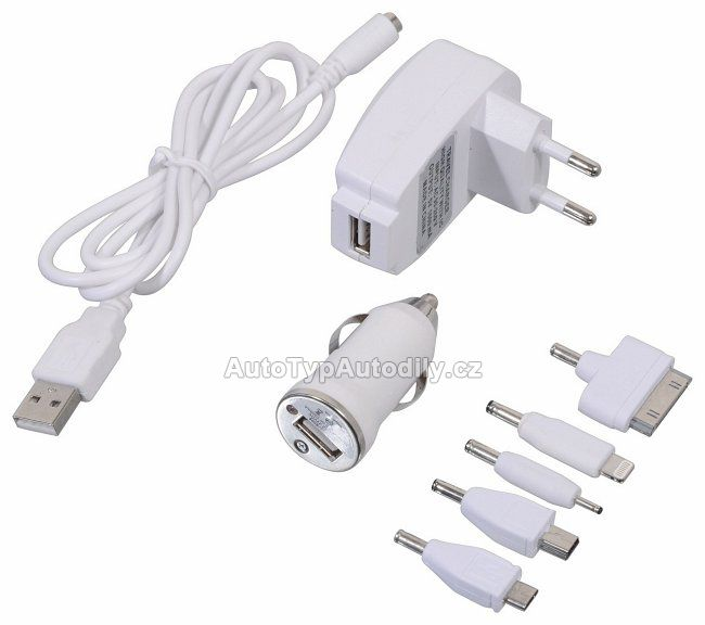 www.autotypautodily.cz Nabíječka telefonu 220/12V (Iphone4/5, micro USB, mini USB... COMPASS