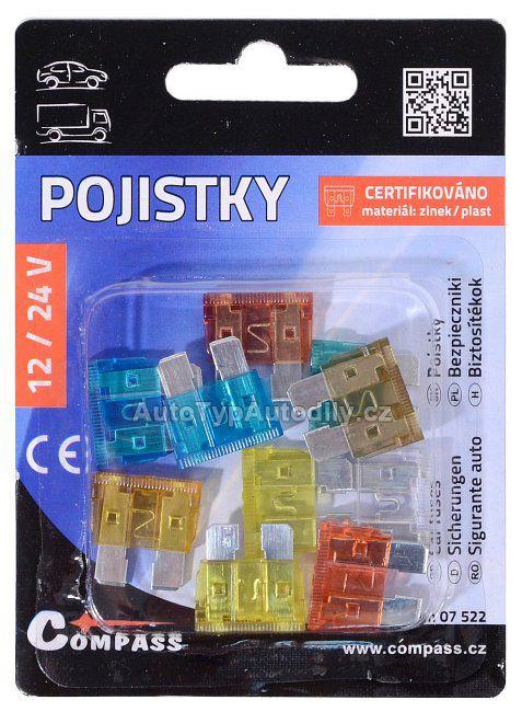 www.autotypautodily.cz Pojistky nožové ploché 10ks 90366 COMPASS