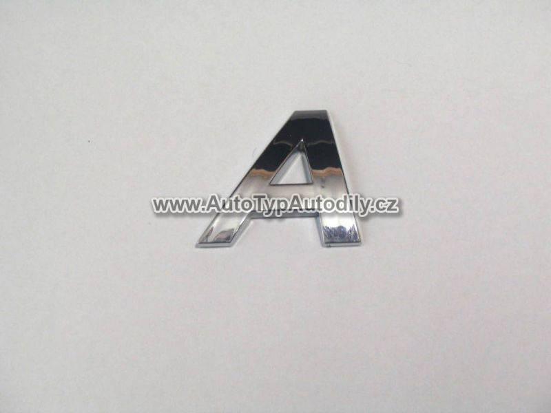 www.autotypautodily.cz Znak písmeno A