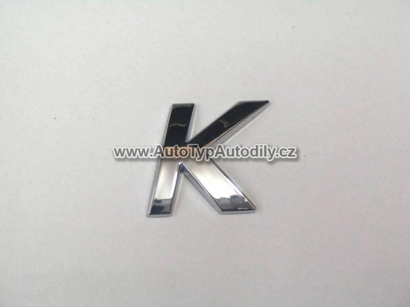 www.autotypautodily.cz Znak písmeno K