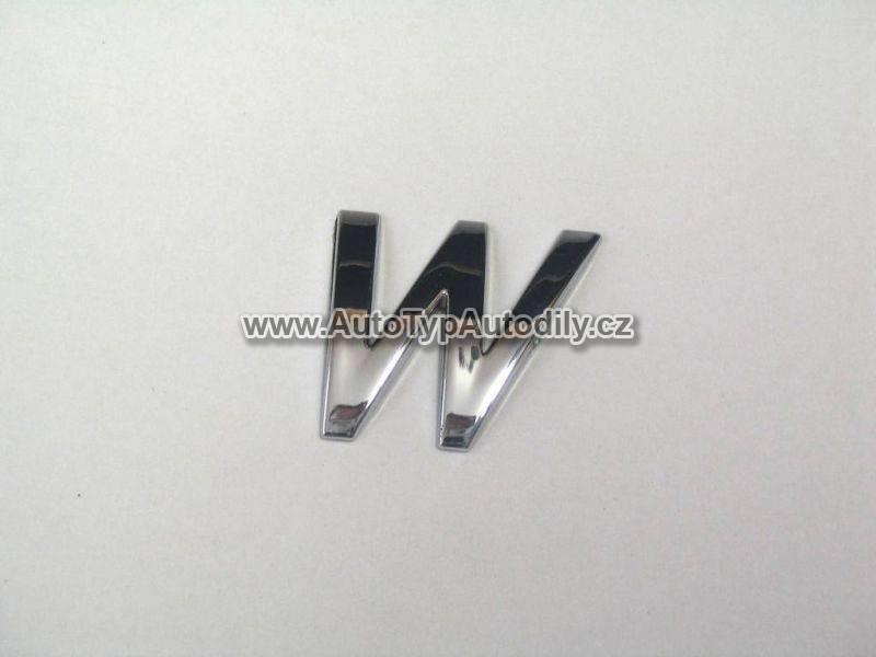 www.autotypautodily.cz Znak písmeno W