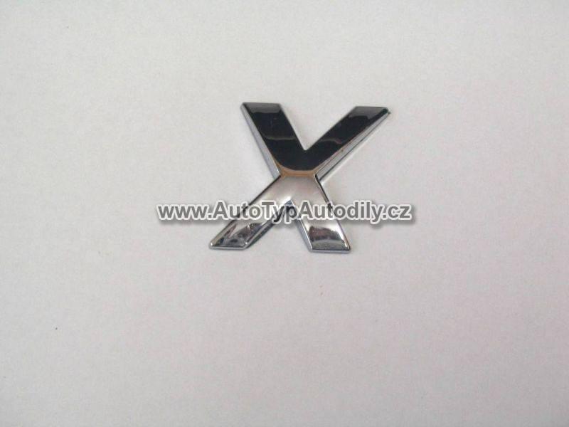www.autotypautodily.cz Znak písmeno X