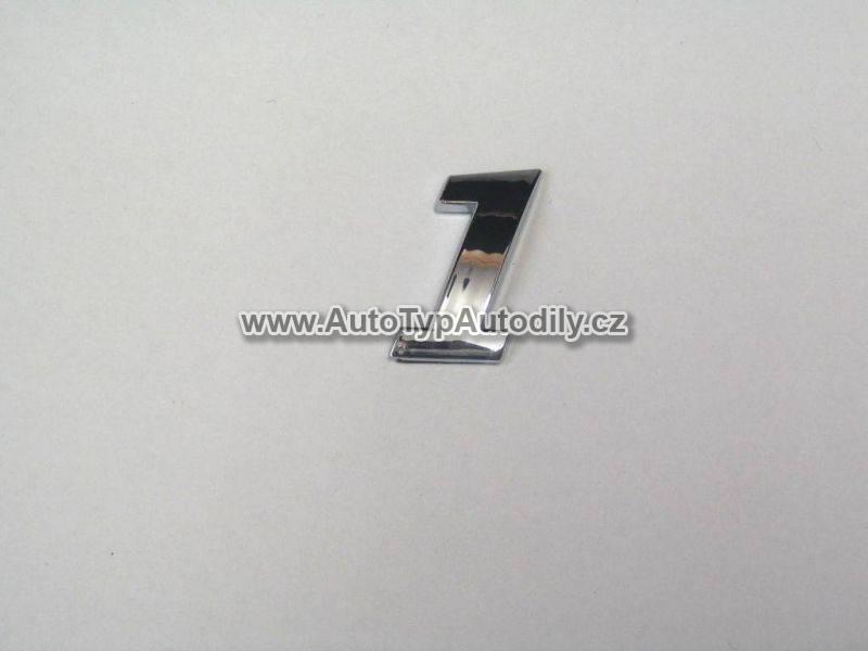 www.autotypautodily.cz Znak číslice 1