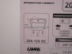 www.autotypautodily.cz Vypínač kolíbka 12V 20A: 45553 Lampa