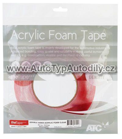 www.autotypautodily.cz Oboustranná průhledná pěnová páska 6mm x 1mm x 10m ATC
