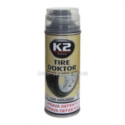 Spray na opravu pneu K2 TIRE DOKTOR 400 ml - lepení pneu