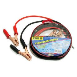 Kabely startovací 200 A 2,5m 100% měď ZIPPER BAG 01 112 COMPASS