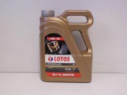 www.autotypautodily.cz Olej motorový 5W-30 A5/B5 Ford WSS-C LOTOS SYNTETIC 5L LOTOS-PL