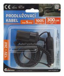 www.autotypautodily.cz Prodlužovací kabel 3m 12/24V COMPASS