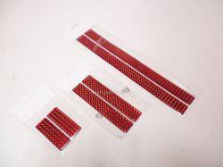 www.autotypautodily.cz Samolepka 3D odrazka 30x2,5cm červená S0017 pár