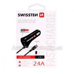 Nabíječka telefonu SWISSTEN micro USB a USB 2,4A - 20111000