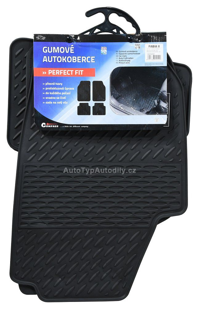 www.autotypautodily.cz Gumové koberce Škoda Fabia II - přesné - 04242 CZ