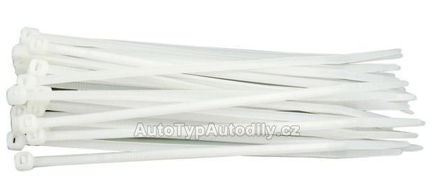 Páska stahovací 300 x 3,6 mm 100 ks bílá