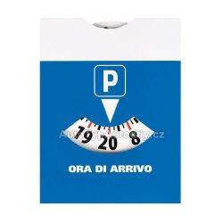 Parkovací hodiny, modré papírové