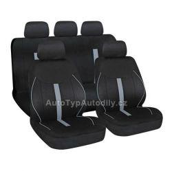 Potah sedadel SPEED černo-šedý, 9 dílů LAMPA Italy 54675