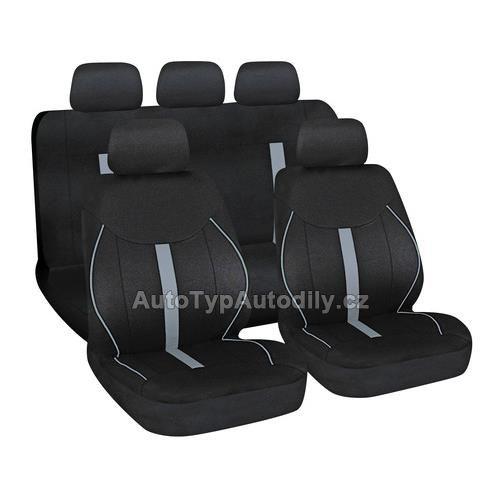 www.autotypautodily.cz Potah sedadel SPEED černo-šedý, 9 dílů LAMPA Italy 54675