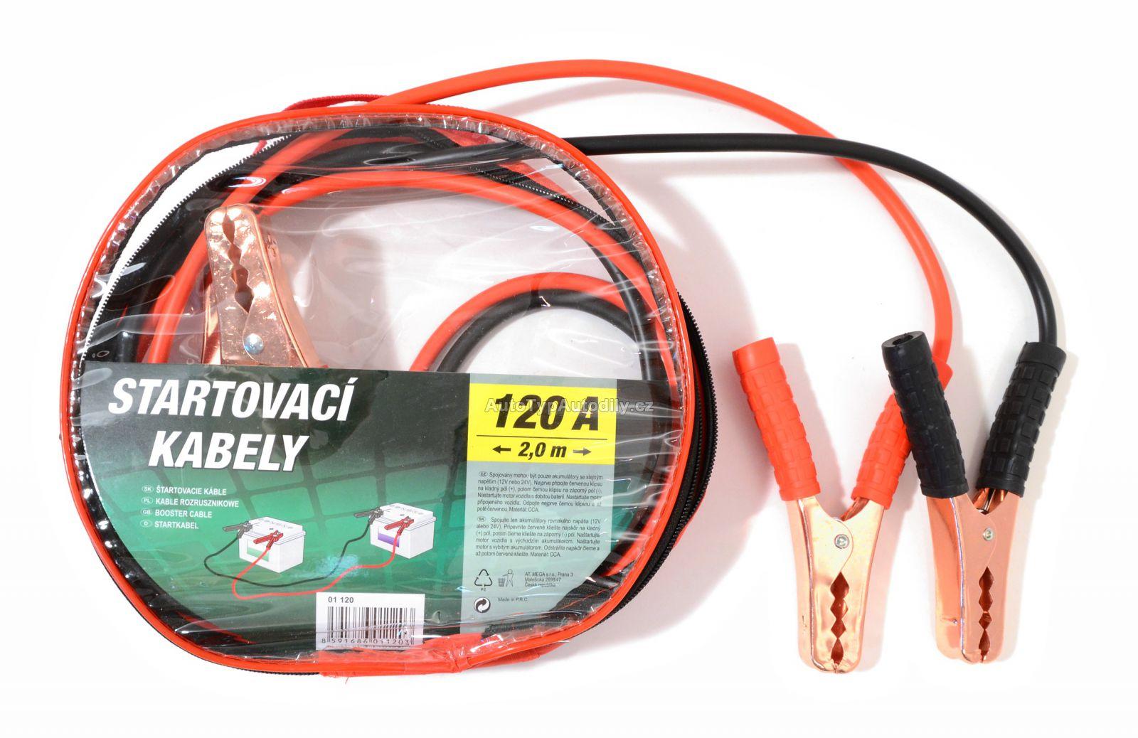 www.autotypautodily.cz Startovací kabely 120A 2,0m zipper bag COMPASS
