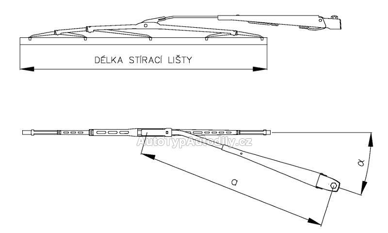 www.autotypautodily.cz Stěrač kompletní Škoda 105/120/Garde/Rapid: 123246021 cz