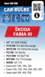 Žárovky servisní box ŠKODA FABIA III H7 COMPASS