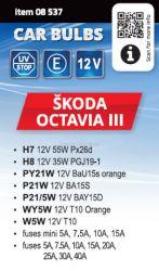 Žárovky servisní box ŠKODA OCTAVIA III H7+H8 COMPASS