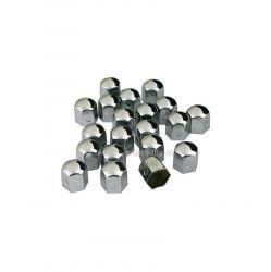 Krytky šroubů kol kovové 19mm 20ks Lampa