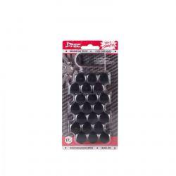Kryty šroubů kol plastové černé 17 mm 20ks