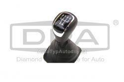 Rukojeť řadící páky Škoda Fabia černá koženka DPA-CN : 6Y0-711113H