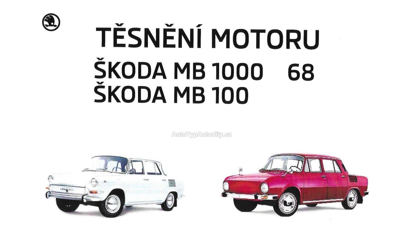 Sada těsnění na motor Škoda 100/1000MB Česko