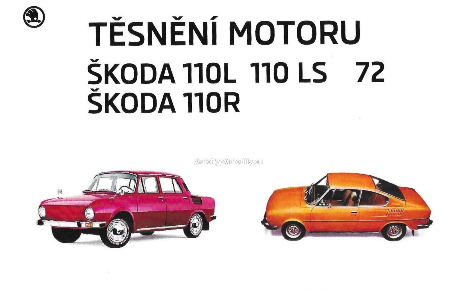 Sada těsnění na motor Škoda 110R/110LS Česko