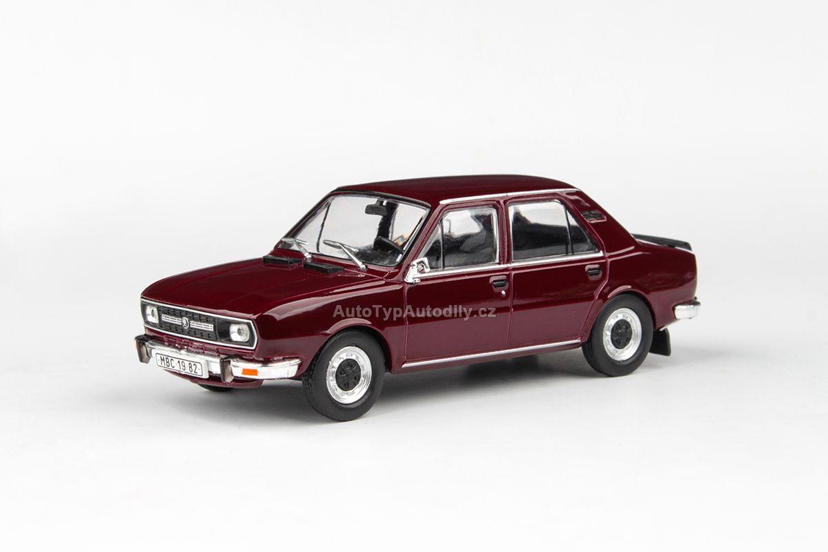 Škoda 120L (1982) 1:43 - Červená Maron ABREX