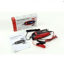 Nabíječka inteligentní 6/12V (14-120 Ah) digitální displej AMIO NEW 5/2020