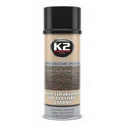 Nástřik na nárazníky a umělé hmoty ČERNÝ K2 BUMPER 400 ml