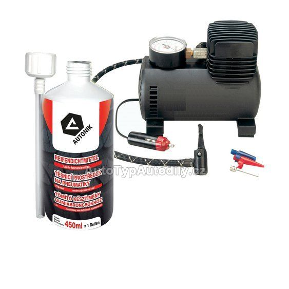 Oprava pneu SET - gel s kompresorem CARTOPIC Lampa - IT