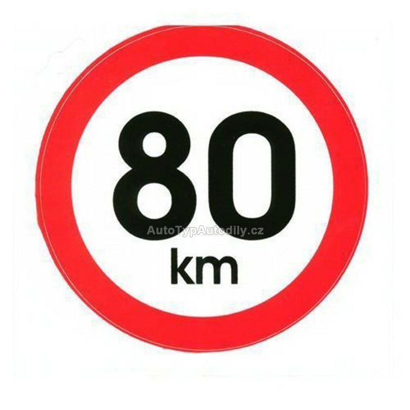 Samolepka rychlost 80km 15cm