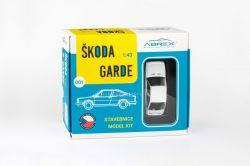 Škoda Garde (1982) 1:43 - Bílá Ledová - Stavebnice