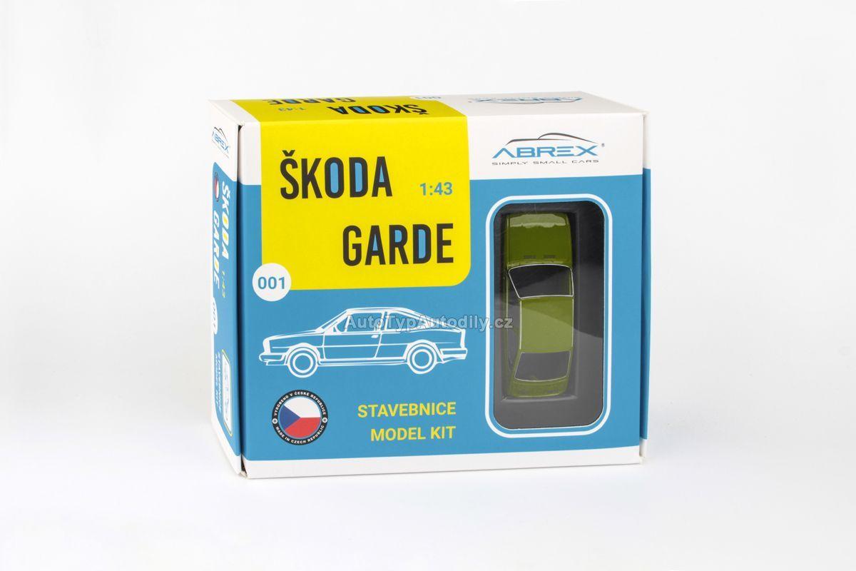 Škoda Garde (1982) 1:43 - Zelená Olivová - Stavebnice ABREX