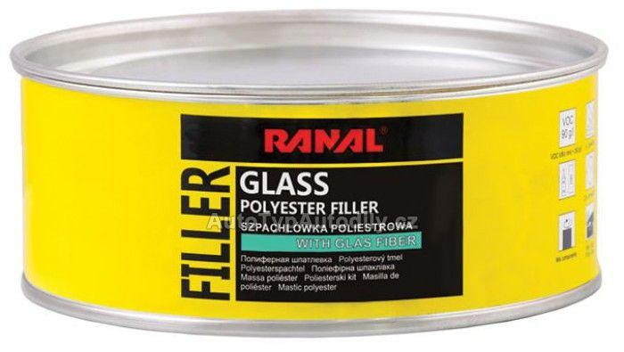 Tmel karosářský vlákno - GLASS 0,5kg RANAL
