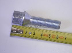 Šroub kola UNI M12x1,5 závit 38mm kuželové sedlo