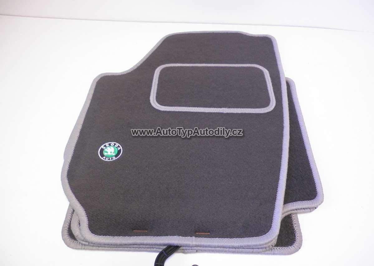 Koberce textilní Škoda ROOMSTER sada 4 kusy tmavě šedé CZ