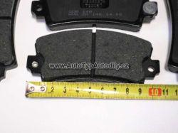 Destičky brzdové DACIA 1310/1300/Renault/Fiat Lucas